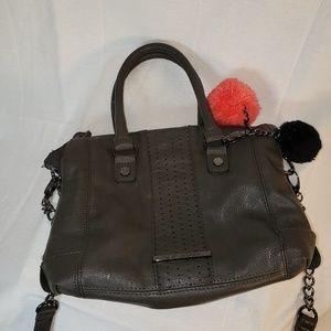 Steve Madden gray faux Leather Crossbody Bag